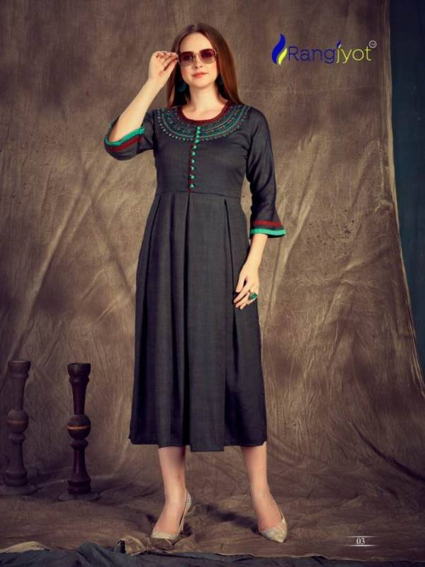 Ranjyot Herry Vol 3 Latest Designer Anarkali Style Kurtis Collection