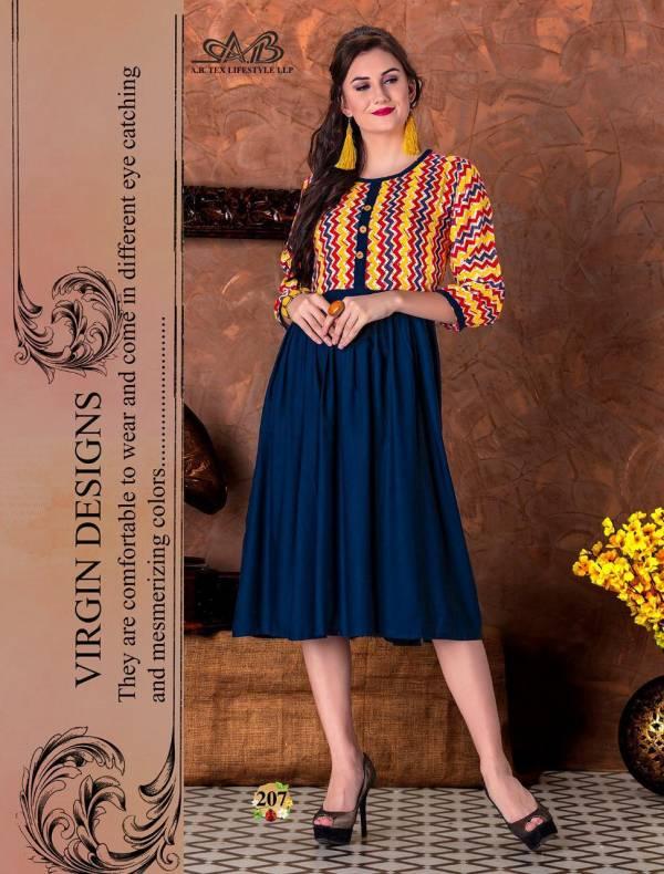 Ab Suhani Latest Stylish Anarkali Type Fancy Printed Casual Kurtis Collection