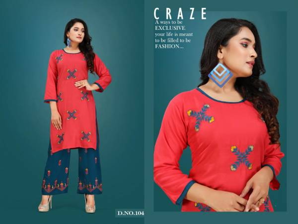 Plazo Queen Latest Collection Of New Fancy Designer Party Wear Embroidered Kurtis With Plazo