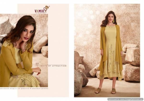 Vamika Upstylish 2 Latest fancy Designer Ethnic Wear Pure Viscose Maslin Silk Designer Kurti Collection