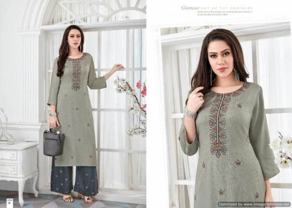 Quick Pashmina Winter Collection Of Kurtis and Plazzo With Work