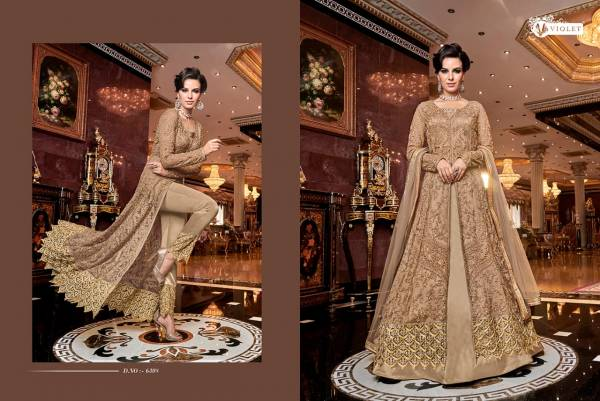 Swagat Violet 6308 Hit Design Heavy Look Embroidered Salwar Suits