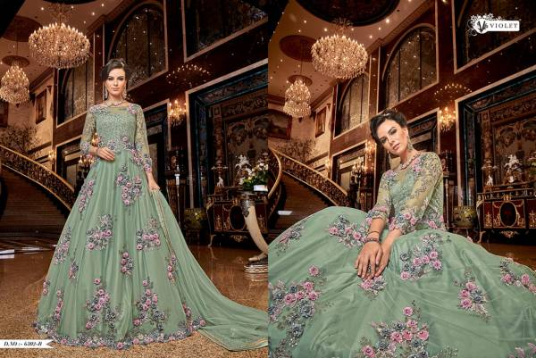 Swagat Violet 6302 Hit Design Heavy Look Embroidered Salwar Suits