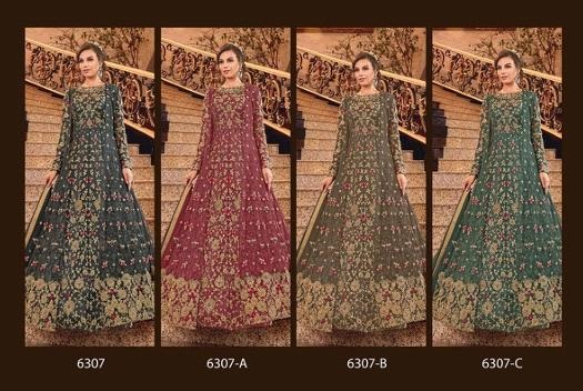 Swagat Violet 6307 Hit Design Heavy Look Embroidered Salwar Suits