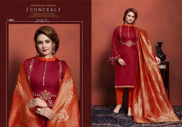 Wonder Churidar Party Wear Pure Cotton Dress Material