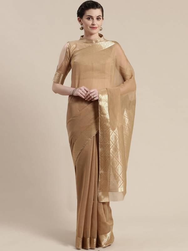 Sidnaz 1 Linen Blend Festive Wear Georgette Saree