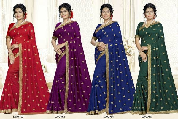 Kalista Malishka Designer Georgette Saree Collection