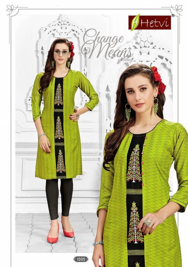 Hetvi Flora Rayon Printed Casual Wear Short Kurti