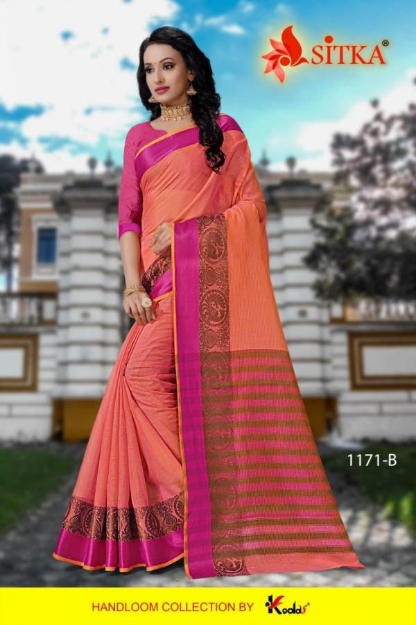 Sweety 1171 Poly Cotton Festive Wear Saree