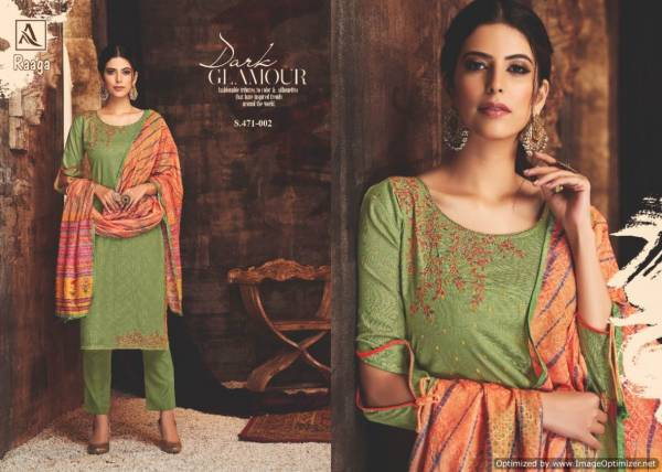 Alok Raagaa Pure Cotton Heavy Look Designer Dress Material