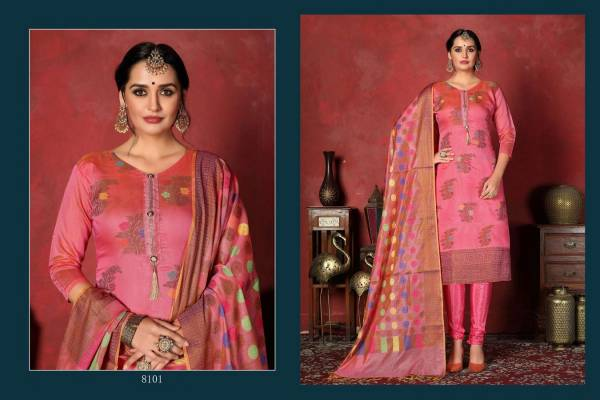 Dwija Pankhuri Heavy Silk Designer Dress Material