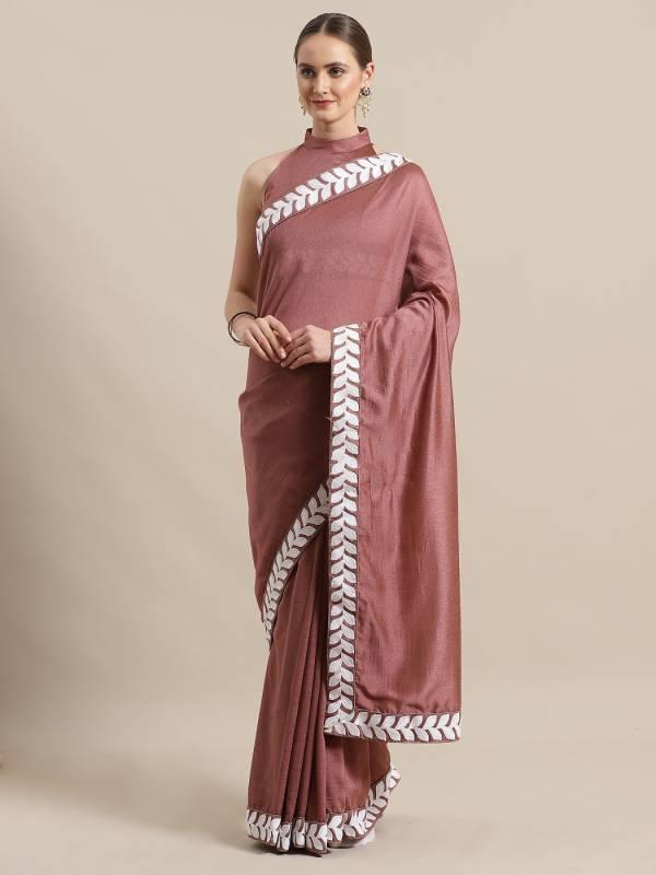 Dwija 2 Party Wear Floral Silk Blend Saree Collection