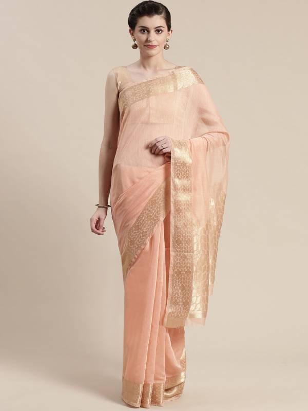 Sidnaz 4 Linen Blend Festive Wear Floral Saree