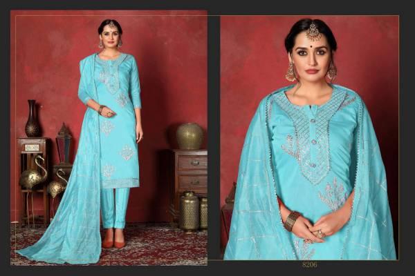 Dwija Rani Heavy Silk Designer Dress Material