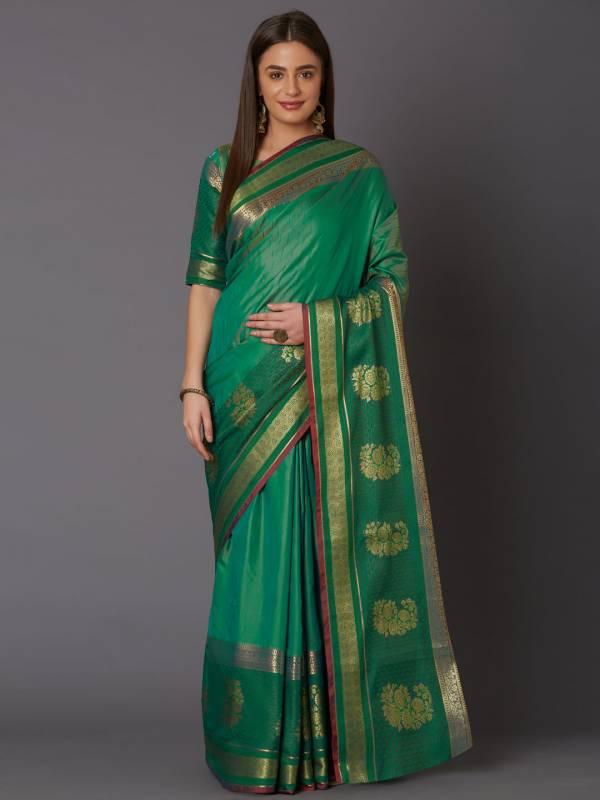 Raahi Festive Wear Silk Blend Geometric Saree