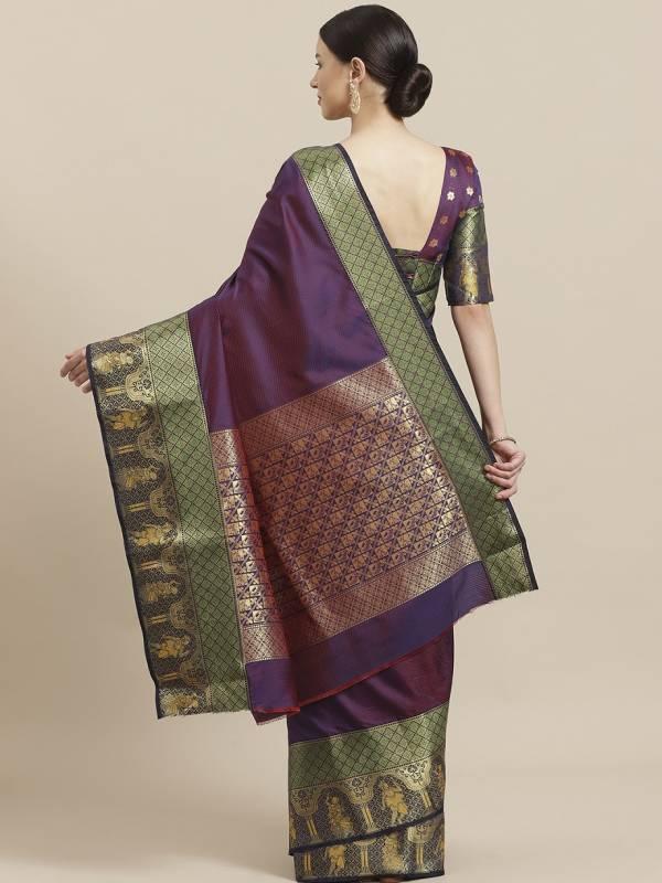 Kala Kruti Festive Wear Silk Blend Saree Collection