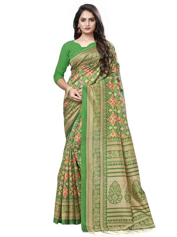 Apha 202 Ethnic Wear Lichi Silk Printed Saree