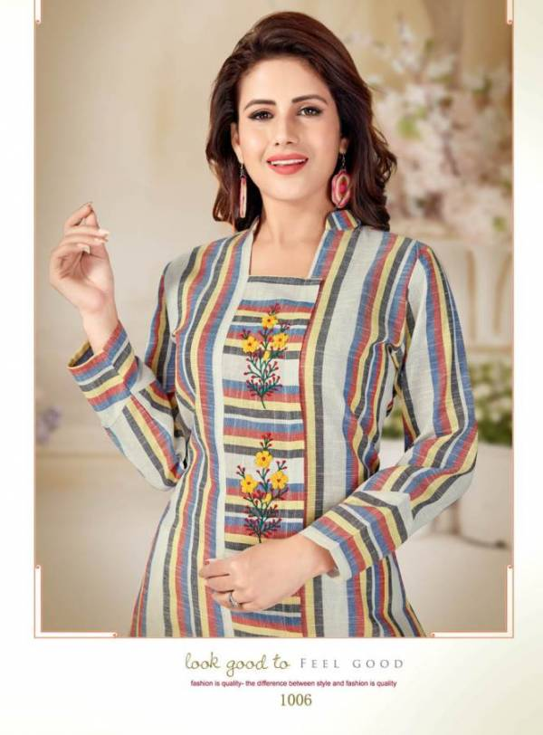 Aliskha Olive Running Wear Cotton Kurti Collection