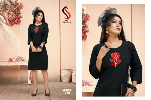 SS Akruti 4 Handloom Cotton Straight Cut Kurtis