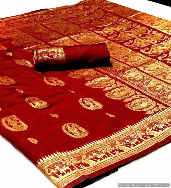 Sanskruti Silk Soft Silk Heavy Pallu Festive Wear Saree