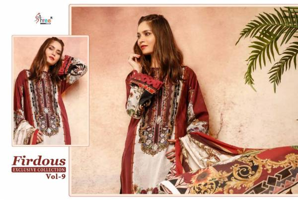 Shree Firdous Exclusive Collection 9 Pure Jam Pakistani Salwar Suits Collection