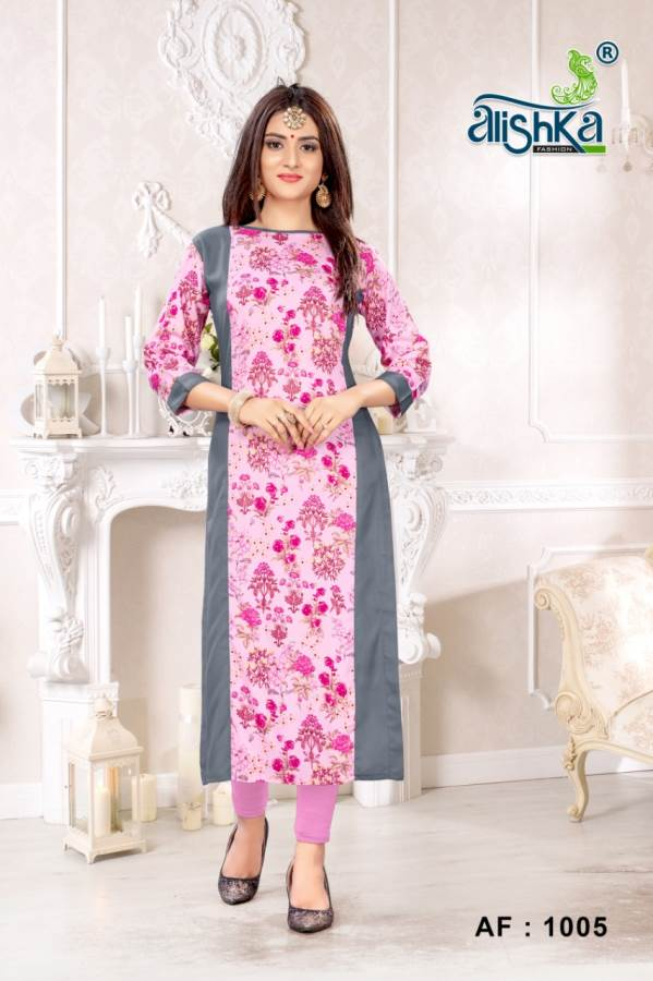 Alishka Happy Heavy Rayon Printed Kurti