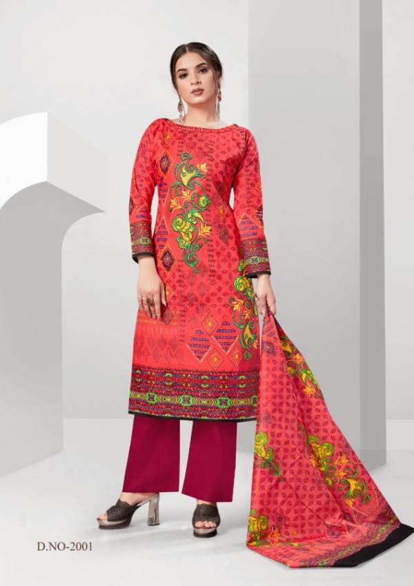 Kum Kum Aafiya 2 Pure Cotton Printed Dress Material