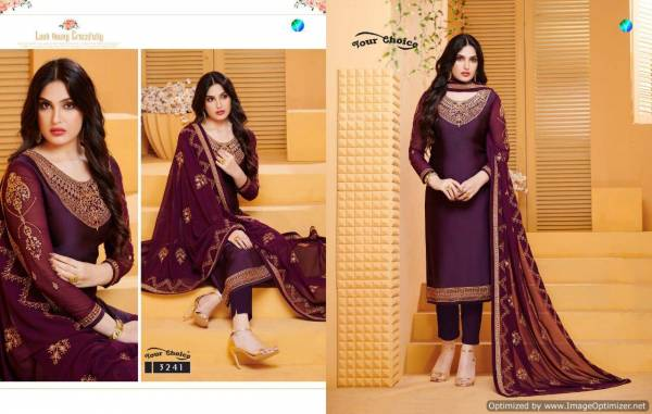 Y.C Gulzar 2 Satin Georgette Designer Salwar Suits