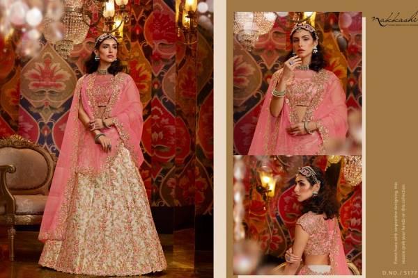 Nakkashi Jashn Latest Designer Heavy Wedding Wear Heavy Sequence Embroidery Work Lehenga Choli Collection