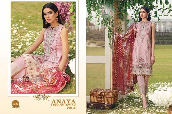 Anaya Lawn Collection Vol-2 Latest Designer Party Wear Wedding Salwar Suit With Heavy Embroider Work