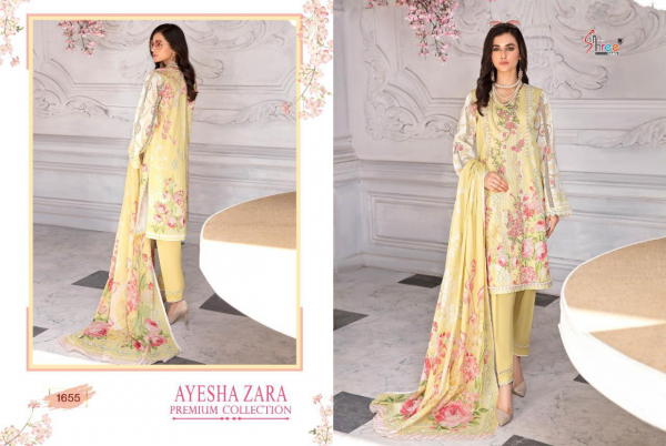Shree Ayesha Zara Premium Latest Collection Fancy Designer Heavy Casual Wear Cotton Print With Embroidery Pakistani Salwar Suits