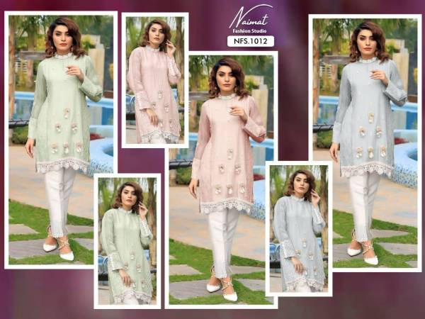 Naimat Fashion Studio 1012 Georgette Fancy Party Wear Top With Bottom Collection