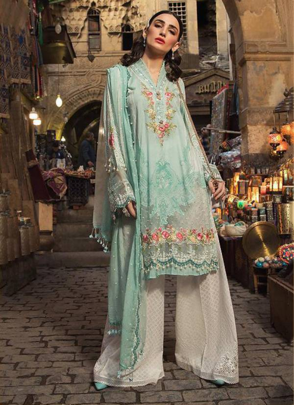 Maria.B.Lawn Vol 2 Pure Cotton With Embroidery With Pearl Work Pakistani Suit Collection 571-576