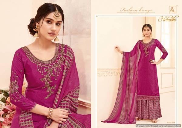 Alok Nakashi Heavy Nakashi Work Latest Designer Heavy Embroidery Worked Neck Design Salwar Suit Collection