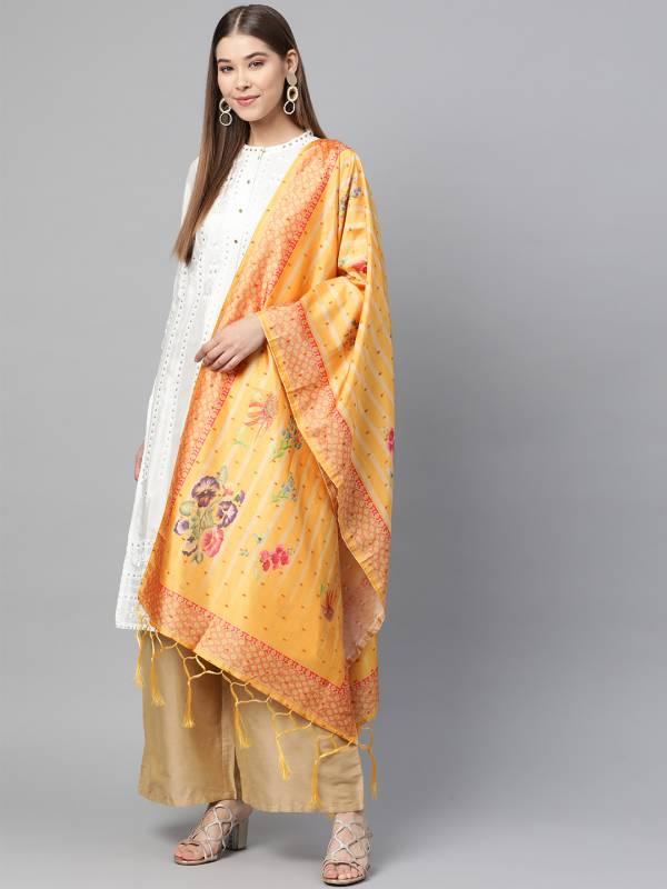 Zarika Designer Dupatta Having Beautiful Border Full Printed Design