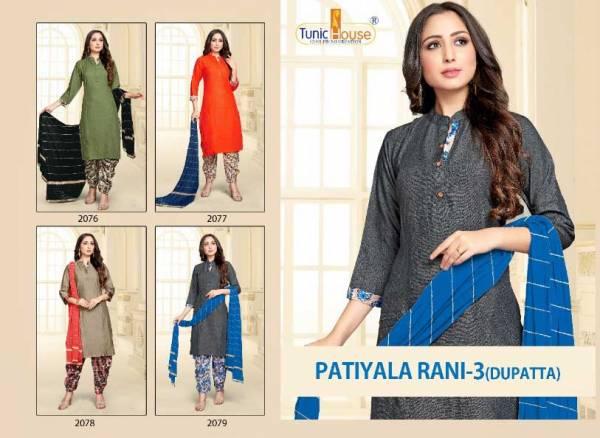 Tunic House Patiyala Rani 3 Ethnic Wear Rayon Printed Ready Made Collection