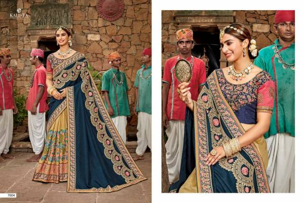 Kalista Khwaab 17 Nx Wedding Bridal Wear Embroidery Worked Heavy Latest Saree Collection
