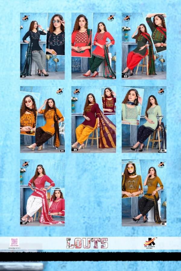 The Fashion Studio Lotus 2 Regular Wear Rayon Printed Ready Made Collection