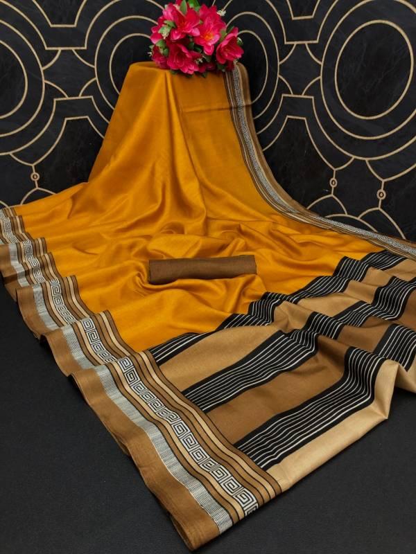 Monalisha 2 Fancy Casual Wear Printed Khadi Silk Latest Saree Collection