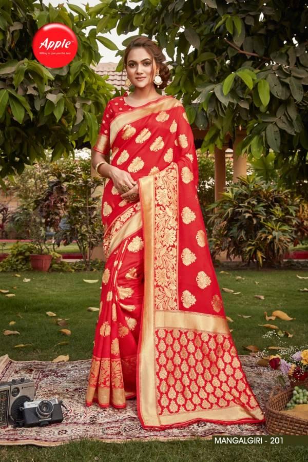Apple Mangalgiri 2 Fancy Festive Wear Cotton Silk Designer Saree Collection