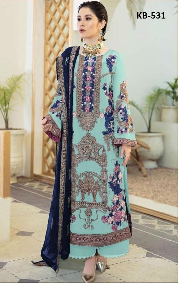 Super Hit 531 Georgette Festive Wear Designer Pakistani Salwar Kameez Collection
