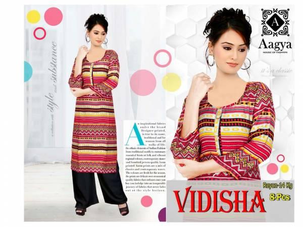 Aagya Vidhisha Stylish Daily Wear Printed Rayon Kurtis With Plazzo Collection