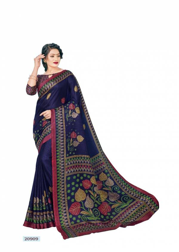 Mintorsi Mysore Silk With Exclusive Print Designer Sarees Collection