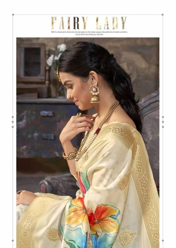 Smaran Silk Latest Fancy Designer Festive Wear digital print Pure Silk Saree Collection
