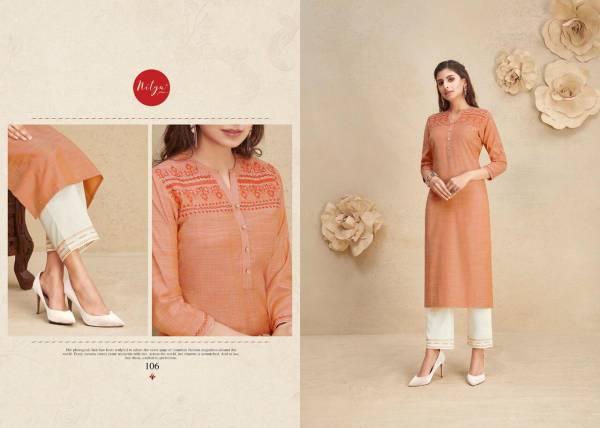 FABRICS (NITYA) SHANAYA Latest Fancy festive Wear Fancy Cotton Worked Kurtis With Bottom Collection