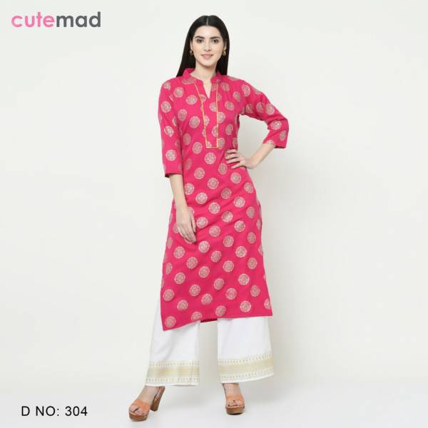 Cutemad Vol-3 New Designer Party Wear Kurtis With Plazzo Suitable For Festival & Functions