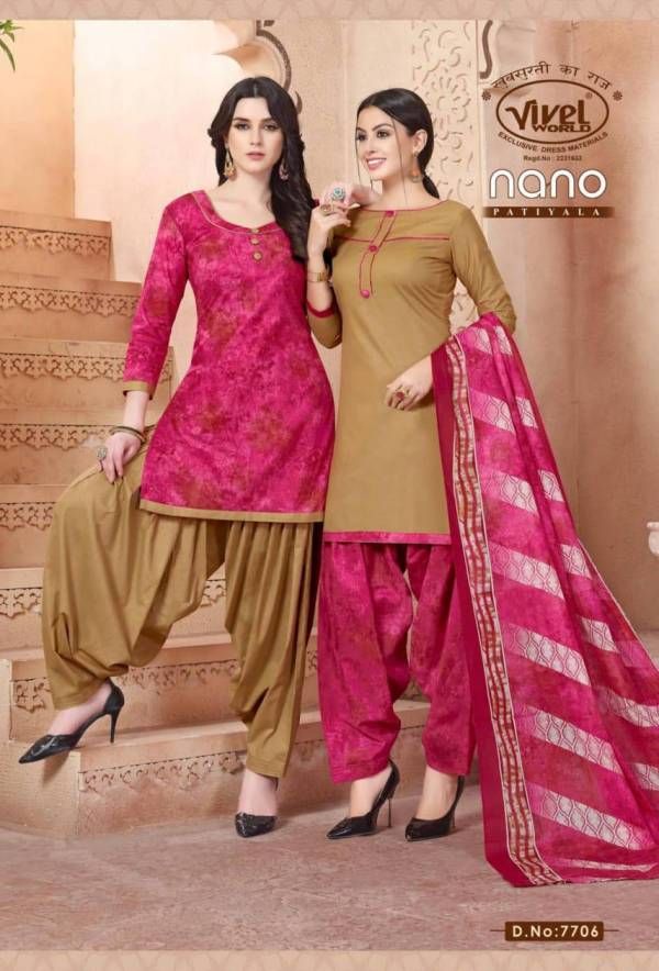 NANO PATIYALA NEW Launch Of Designer Cotton Regular Wear Printed Salwar Suit With Cotton Dupatta