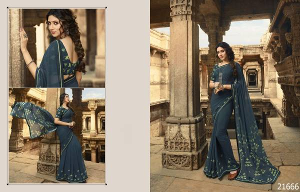 Starwalk 48 Latest Designer casual Wear Party Wear Georgette Saree Collection With Printed Blouse