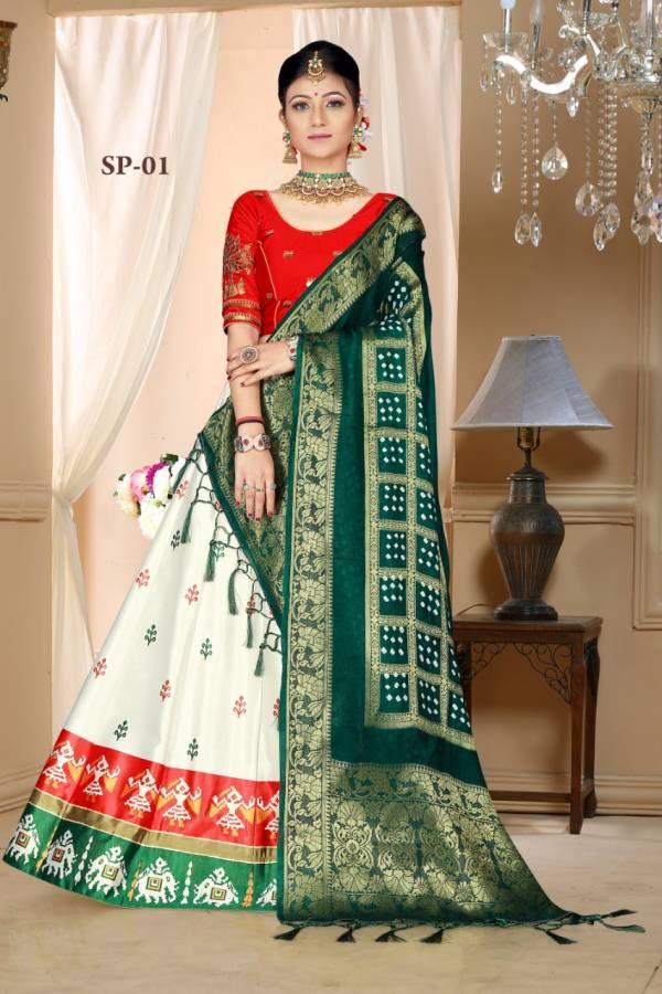 Latest Designer Festive Wear Bandhani Style Lehenga Choli Collection