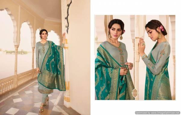 Zisa Banarasi 8 New Collection of Exclusive Georgette Designer Festival Wear Salwar Suit With Banarasi Jacquard Dupatta